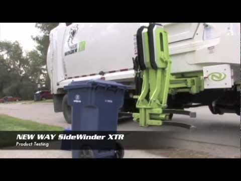 New Way Sidewinder : Automated Side Loader For Garbage Collection