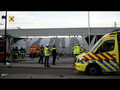 Zwaargewonde na instorten deelperron Tilburg