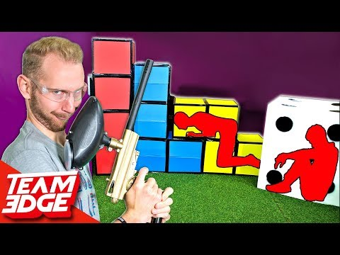 GIANT Prop Hunt IRL | Paintball Edition!! (видео)