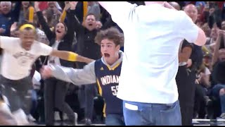 Kid At Pacers Game Nails Half-Court Shot To Win Free Chick-Fil-A For A Year