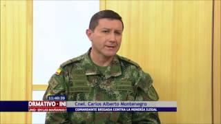 El Ejército colombiano es el único que tiene una brigada contra la minería ilegal
