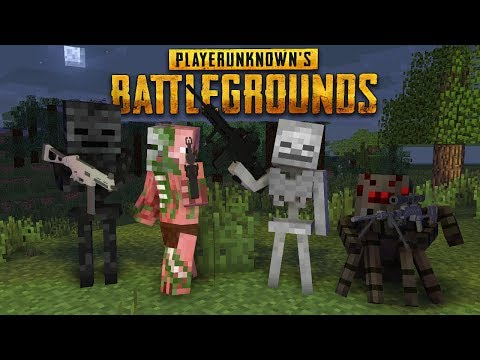 Monster school : PLAYER UNKNOWN BATTLEGROUNDS (PUBG) CHALLENGE - Minecraft animation