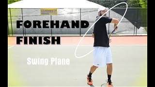 Hammerit Tennis, Creator and Founder, Daniel Dodson, shows you how the racquet should finish after a proper swing.Get Coach Daniel's racquet of choice. The new Babolat Pure Aero http://amzn.to/2q2RiTo