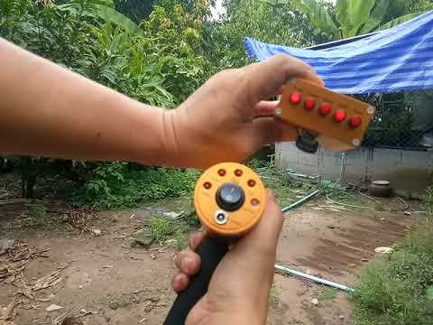 AKS METAL DETECTOR. Test the depth of gold in a pond at a depth of 5.5 meters