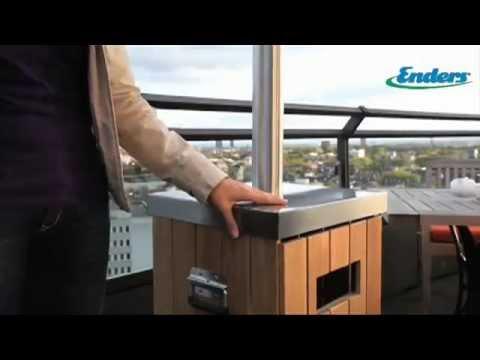Видео Инфракрасные газовые обогреватели Enders Инфракрасный газовый обогреватель Wood