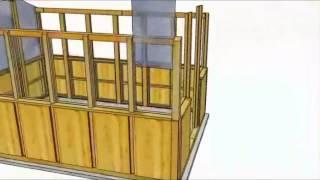 8x12 Cedar Greenhouse