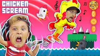 CHICKEN SCREAM! TRY NOT TO LAUGH FGTEEV ers! Super Funny Amazing Game - Music & Whisper Challenge