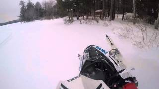 4. Polaris Rush 600 Pro R in the powder