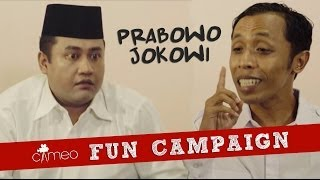 Video CAMEO Fun Campaign: Jokowi vs Prabowo MP3, 3GP, MP4, WEBM, AVI, FLV April 2019