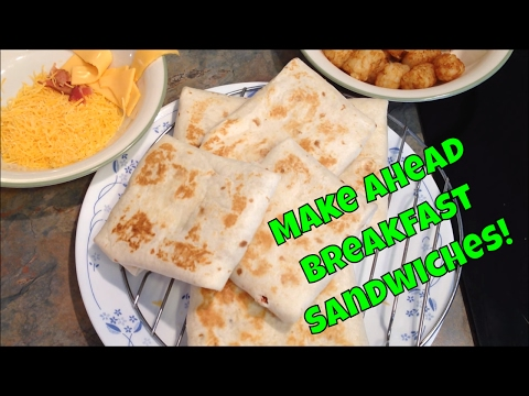 Easy Make Ahead Breakfast Sandwiches – Good For The Freezer