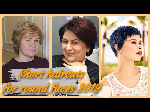 Popular  ideas for female short haircuts for round faces 2019