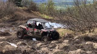 6. Polaris Rzr 1000xp 4 Seater - Incline Muddy Rock garden - Pro Armor 32
