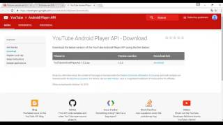 YouTube Android Player API in Android Studio