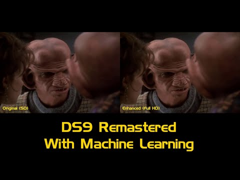 DS9 Remastered With Machine Learning - Comparison Video (480p to 1080p)
