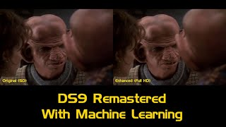 DS9 in HD using Machine Learning | Comparison Video (480p to 1080p)