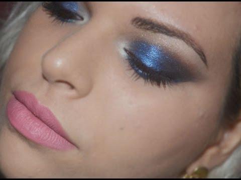 Maquiagem azul para todos os tons de pele