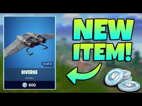 NEW RARE DIVERGE GLIDER GAMEPLAY / Fortnite Battle Royale Live