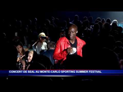 Seal enflamme la scène du Monte-Carlo Sporting Summer Festival
