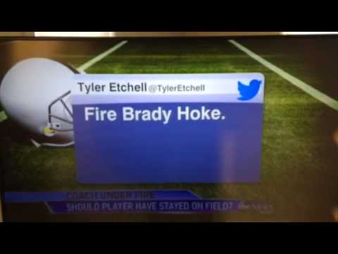 Abc - Storage runs out at the end. Sorry for the missing ten seconds at the end. National outrage over Brady Hoke's decision to leave sophomore quarterback Shane Morris in the game.