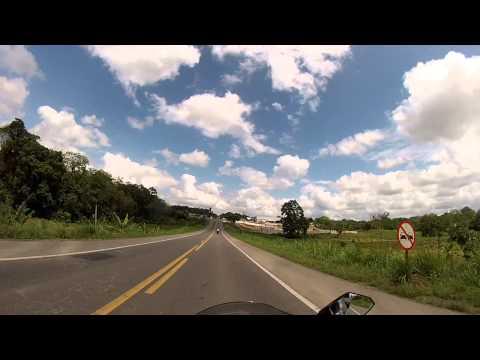 31/10/2014 - Saída do Posto para Gandu, ficamos para trás pois a moto de Leo não quis pegar.