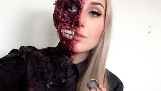 Harvey Dent // Two Face Special FX Makeup Tutorial ♡ Batman Series - YouTube