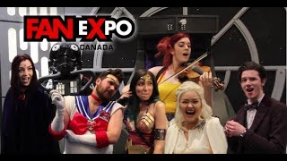 Video Violin girl surprises cosplayers with their themes!! FAN EXPO 2017 MP3, 3GP, MP4, WEBM, AVI, FLV Januari 2019
