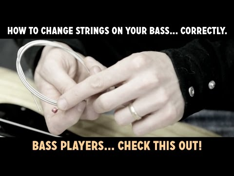 How to change strings on (restring) your bass… correctly. Watch this!