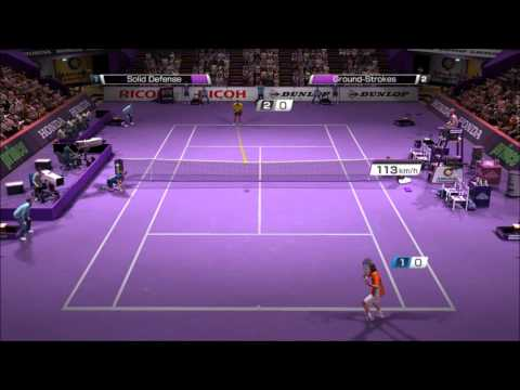 Virtua Tennis 4 PC Gameplay- Rafael Nadal vs Novak Djokovic [VERY HARD]