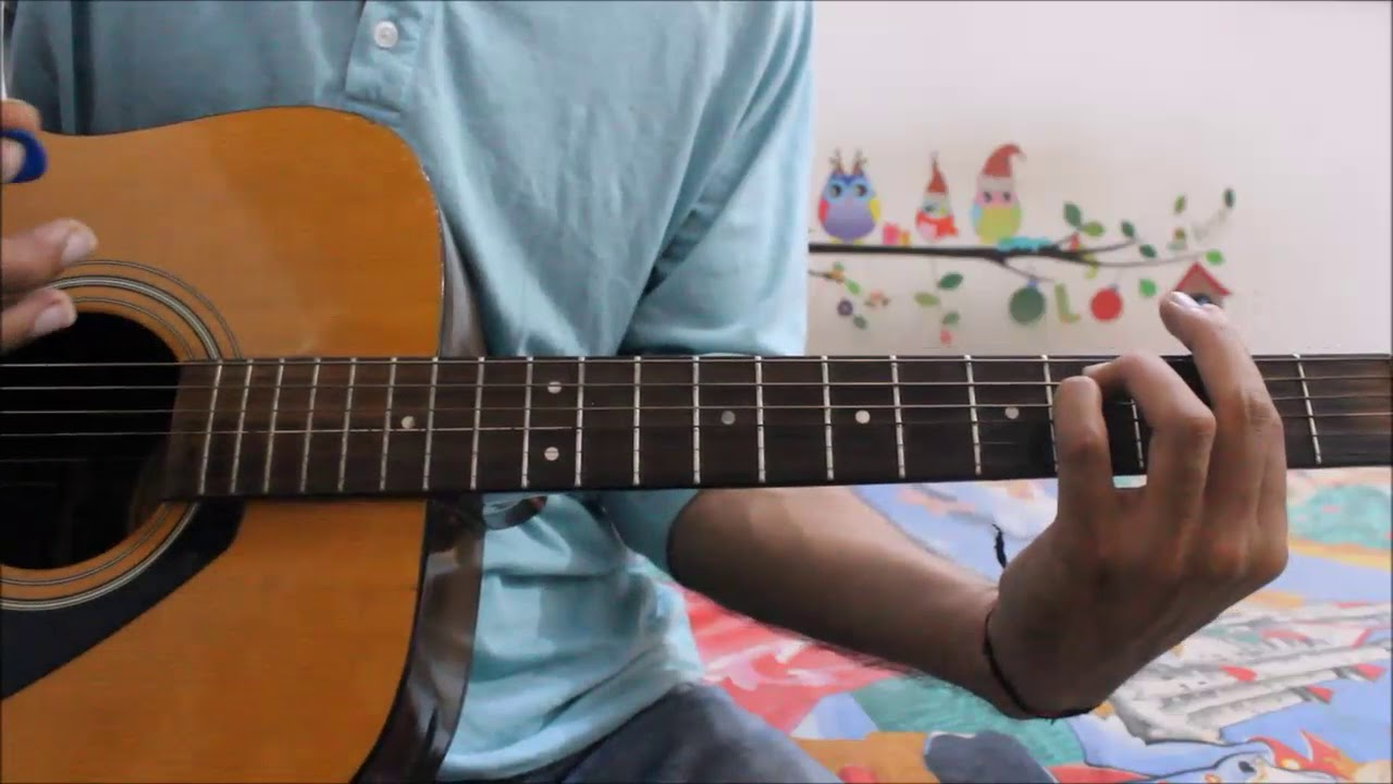 1 Cool Song On Chucking Style Strumming – Hindi Guitar Lesson song for absolute beginners