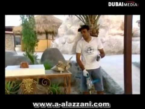 احمد العزاني كيف تصنع استاند زرع على شكل صخرة.wmv