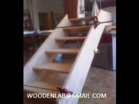 costruzione e posa scala in legno
