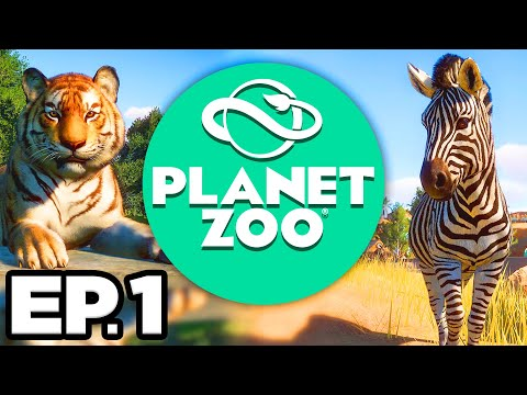 Planet Zoo Ep.1 - 🦁 🐯 🐻 LIONS, TIGERS, & BEARS, OH MY! INTRO & TUTORIAL!! (Gameplay / Let's Play)