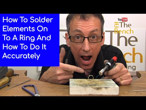 Soldering On Elements Onto A Ring - Making Silver Ring With Embellishments At Home