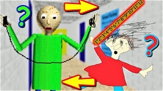 BALDI JUMPS ROPE AND PLAYTIME SLAPS HER RULER!! | Baldi's Basics MOD: Switched Places