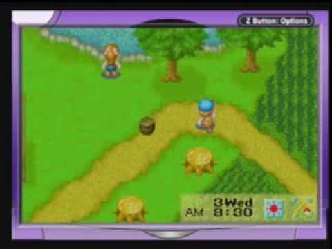 Harvest Moon (series) - Oh no! I forgot to feed the chickens! This is some random gameplay of me playing a day of Harvest Moon: Friends of Mineral Town (a GBA game)