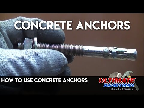 Using Concrete anchors