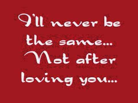 Red - Never be the Same [LYRICS]