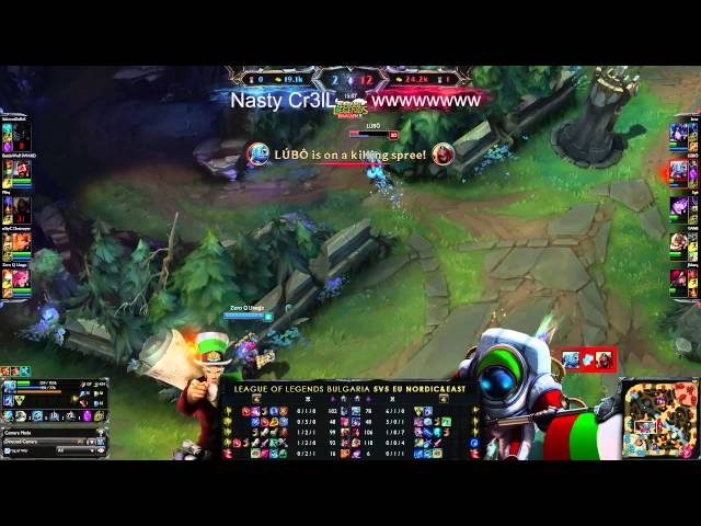 LeagueOfLegends-BG 5VS5 EUNE #26 Nasty Cr3lL vs wwwwwwww