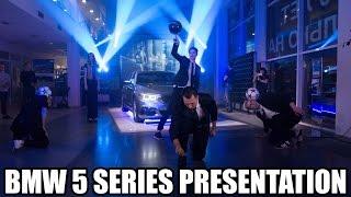 Презентация BMW 5 серии (4 фристайлера + битбоксер)