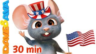 🎯 NEW! THE FARM ANIMALS PUZZLE APP – download for Android ► https://goo.gl/AZxFKj and iOS ► https://goo.gl/0tBc0aHappy 4th of July to all our fans in the USA!  Subscribe now for new nursery rhymes - https://www.youtube.com/DaveAndAva?sub_confirmation=1🎺 Watch our collection of non-stop nursery rhymes at https://www.youtube.com/watch?v=P_-ITNd3zKw&index=1&list=PLURXwwh2i_mcgwdQrVMmh-txx-g1qRcZXIf you like this video, share it link https://www.youtube.com/watch?v=hJtp4cqRujIWelcome Independence Day nursery rhymes collection!  Dave and Ava are celebrating this 4th of July by throwing an epic party today!  Let's dance and sing along to Yankee Doodle and many more kids songs with your toddlers and preschoolers.  Your little ones may learn the Alphabet, colors, numbers, counting, recite phonics, and build their vocabulary! We are always happy to keep your kids busy!Go to your favorite nursery rhyme by selecting a title below:00:19     Yankee Doodle 03:24     If You`re Happy and You Know It 06:32     Old MacDonald Had a Farm  09:40     Wheels on the Bus – Animal Sounds Song 13:18     Rig a Jig Jig 15:15     Jack and Jill 17:37     Miss Polly Had a Dolly20:11     Brother John22:31     Humpty Dumpty  24:39     The Farmer in the Dell 27:22     Hickory Dickory DockWatch more nursery rhymes from Dave and Ava:👍 Finger Family  Nursery Rhymes: Daddy Finger Song and More Children's Songs from Dave and Ava 👍https://www.youtube.com/watch?v=fTy-6Wt27ks🤣 Three Blind Mice  Nursery Rhymes Songs  Music for Kids from Dave and Ava 🤣https://www.youtube.com/watch?v=bFA15Y_VEiQ😉 The Wheels on The Bus - Part 3  Dave and Ava  Nursery Rhymes and Baby Songs 😉 https://www.youtube.com/watch?v=e2S86QvUQIY🐞 Five Little Ladybugs  Nursery Rhymes Collection and Kids Songs from Dave and Ava 🐞 https://www.youtube.com/watch?v=x08yatzOEVE🤗 Nursery Rhymes Collection: Baa Baa Black Sheep, Ten in the Bed, Wheels on the Bus and more Songs 🤗  https://www.youtube.com/watch?v=7srKknBWatEPlease like and share to sho