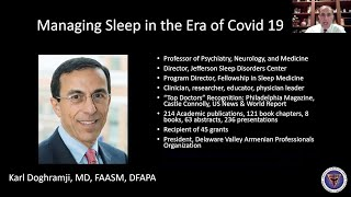 AAHPO Town Hall. Managing Sleep in the Era of Covid 19