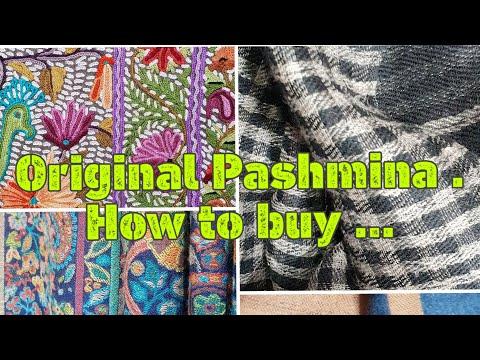 Pashmina Shawl | How to find genuine Kashmiri Pashmina ?