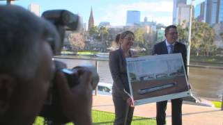 Tunnelling under the Yarra River announcement