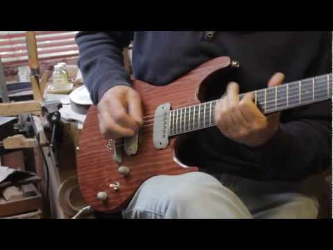 A demo video of new stock Crimson Guitars Bubinga Dissident guitar