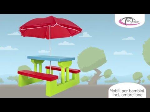 TecTake - Mobili per bambini incl  ombrellone