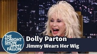 Dolly Parton Makes Jimmy Try on One of Her Wigs