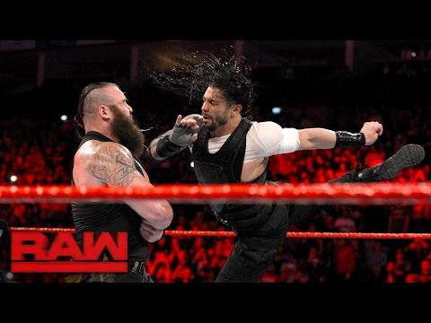 Video Roman Reigns attacks Braun Strowman: Raw, May 8, 2017 download in MP3, 3GP, MP4, WEBM, AVI, FLV January 2017