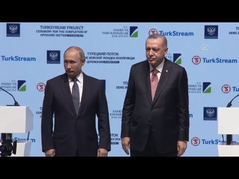 Τελετή εγκαινίων του αγωγού φυσικού αερίου TurkStream