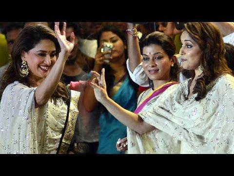 Madhuri Dixit Celebrates Dahi Handi At Shree Sanka