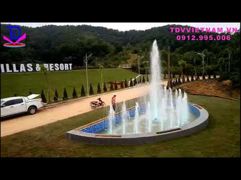 Thi công đài phun nước hình bán nguyệt tại Lương Sơn, Hòa Bình